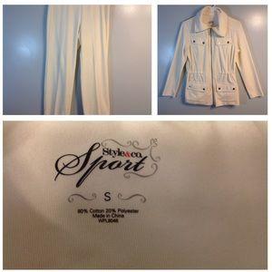 Cream colored velour 2 piece outfit BOGO 1/2 OFF